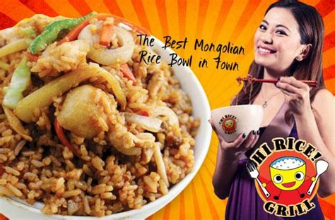 rice grills mongolian rice bowl promo  pasig