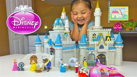 huge disney princess cinderellas castle toy review