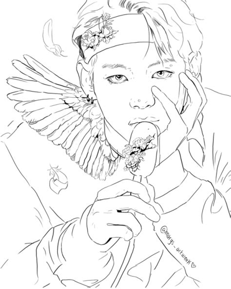 Bts V Coloring Pages bts coloring pages related keywords bts coloring pages