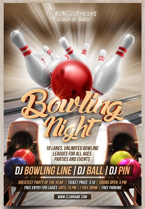 bowling flyer template 21 bowling flyer designs psd design trends