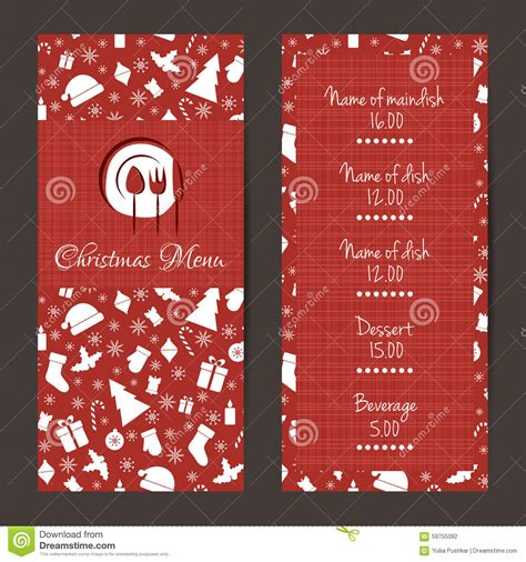 festive cards templates festive menu design stock vector image 59755092