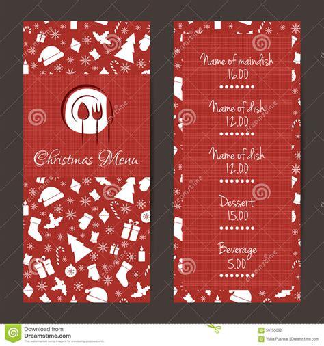 Festive Cards Templates by Festive Menu Design Stock Vector Image 59755092