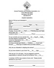 pet adoption application template animal protection and education association inc help us out
