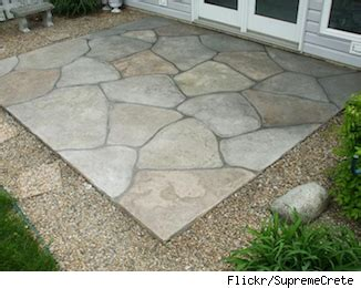 want a patio try sted concrete as a low cost alternative