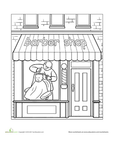 coloring book warehouse barber shop