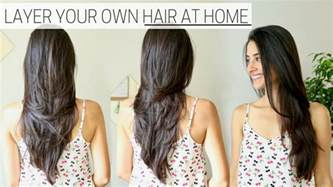 how i cut layer my hair at home 187 diy layers
