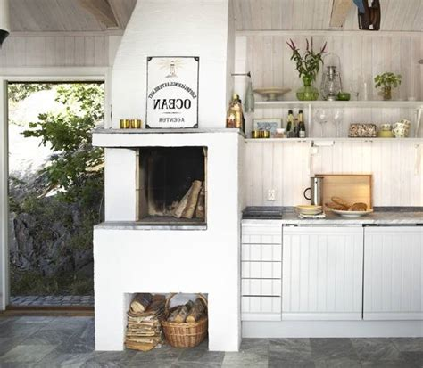 Kitchens With Fireplaces In Them by Scandanavian Kitchen With Fireplace For The Home