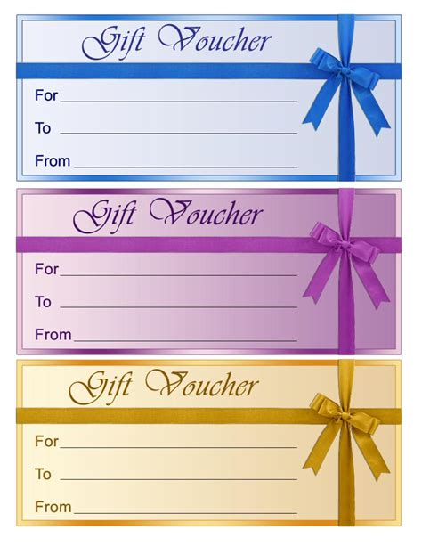 printable vouchers colorful blank gift voucher template exle by efs16845