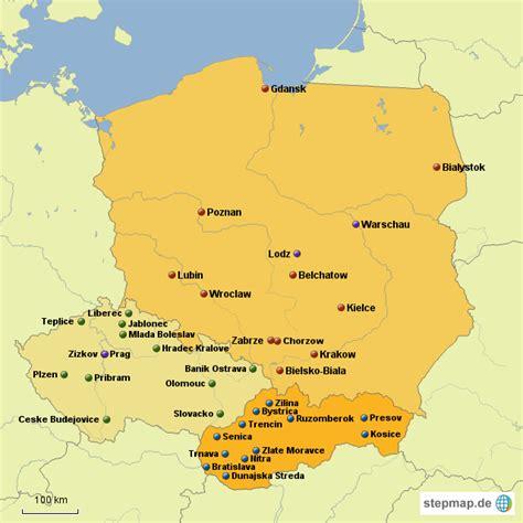 karte deutschland tschechien polen tschechien slowakei tobiassueveges landkarte