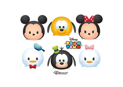 Tsum Tsum mickey and friends tsum tsum collection wall decal shop fathead 174 for mickey mouse decor