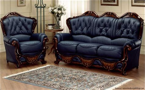 blue italian leather sofa lavish leather looks renomania