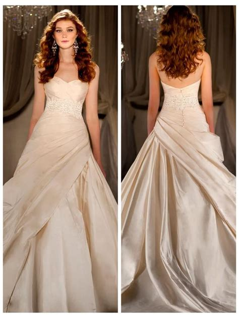 sweetheart ruched gown wedding dress with beaded lace