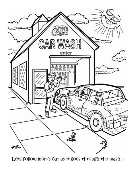 Washable Coloring Book Hello car wash coloring pages murderthestout