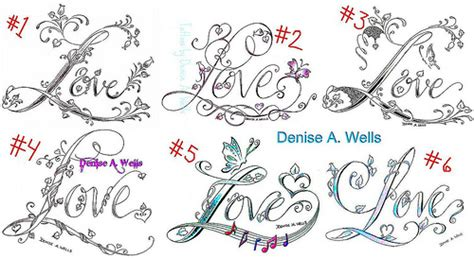 tattoo fonts vines love tattoo designs by denise a wells flickr photo