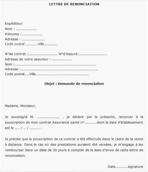 Lettre De Renonciation Mutuelle Entreprise R 233 Tractation Contrat Mutuelle Quel Est Le D 233 Lai Et Comment Agir