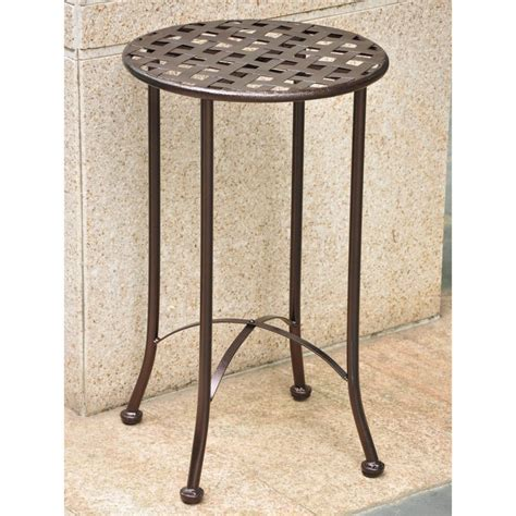 outdoor iron side table inspiring metal patio side table patio design 386