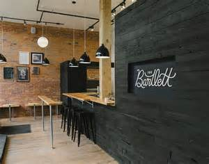 exposed brick and timber interiors flooded by light the bartlett cafe interior black washed wood with