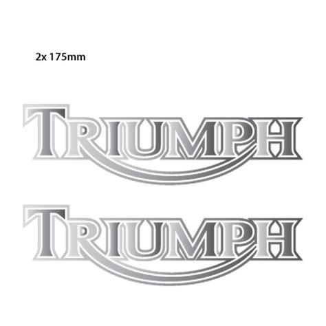 triumph boat decals triumph classic logo chrome decals set of 2 stickers
