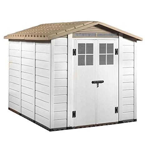 box giardino pvc casetta pvc beige pavimento box porta attrezzi giardino