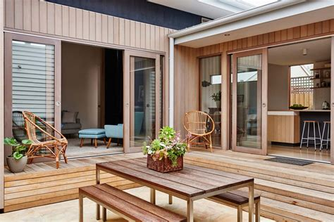 beach cottage timber clad extension  shabby chic