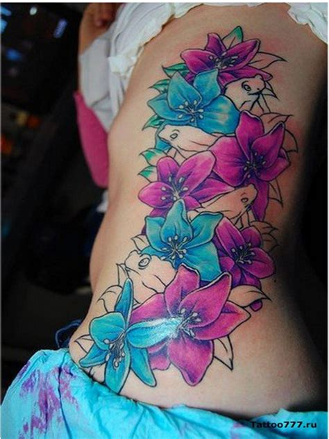 colour flower tattoo designs flower tattoos popular designs