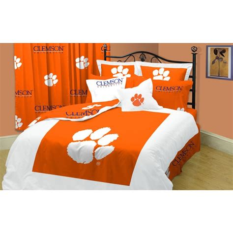 clemson comforter clemson tigers twin xl size 10 piece dorm bed in a bag