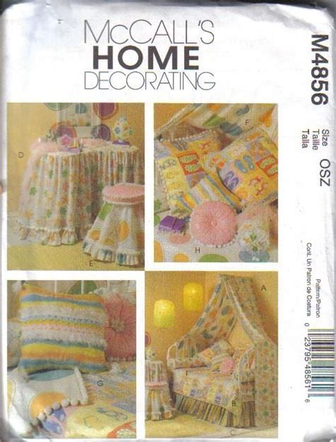 mccalls home decorating sewing pattern 3896 ebay oop mccalls child size accessories and home decorating