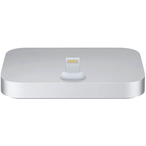 apple iphone lightning dock silver ml8j2am a b h photo
