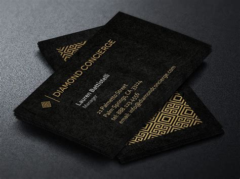concierge business card template business card templates