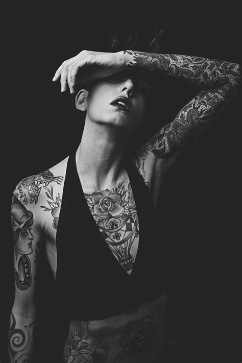 mattia crepaldi s dark portraits of tattooed models scene360