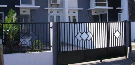 contoh gambar pagar besi minimalis trend  minimalis