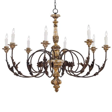 Rustic Iron Chandeliers Oleander Country Rustic Iron Leaf Chandelier Kathy Kuo Home