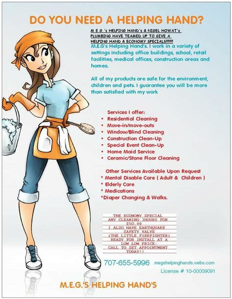 cleaning service advertisement exle google search