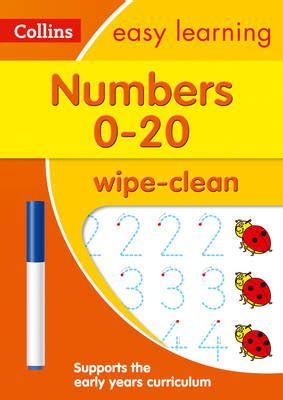 Numbers Learn To Write Wipe Clean Activity Book numbers 0 20 age 3 5 wipe clean activity book by collin buy book at boomerang books
