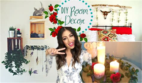Bohemian Bedroom Decorating Ideas diy room decorations 2015 tumblr greenery amp plants youtube