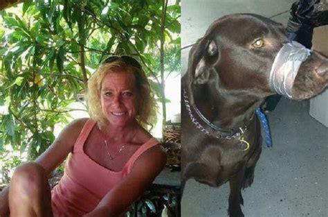 mujer con un perro mas grande arrestan a mujer que public 243 orgullosa la foto de su perro