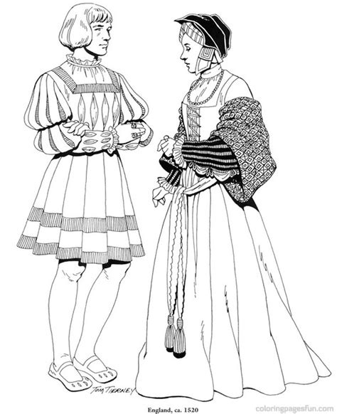 clothes coloring pages pdf renaissance costumes and clothing coloring pages 25