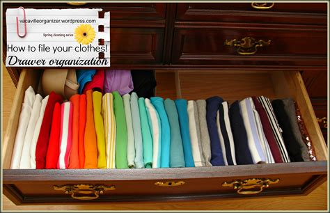 Clothing Organization | drawer organization ideas filing clothes vacaville