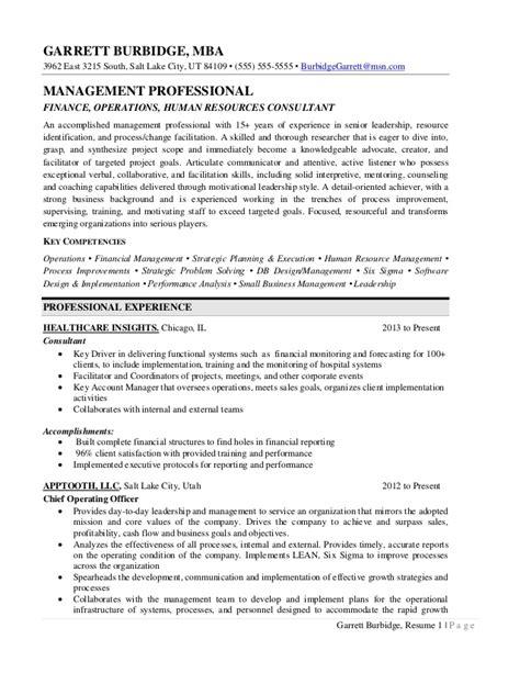 executive resume sle