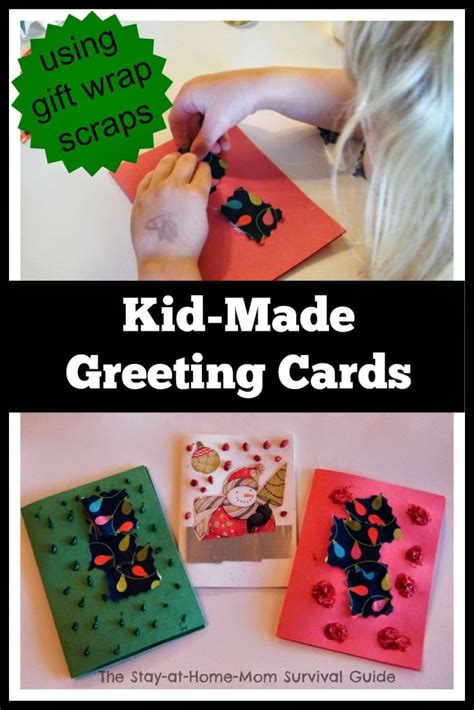 how to make greeting cards at home thank you notes using gift wrap scraps the stay