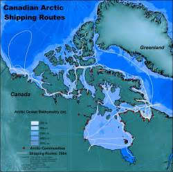 canada arctic map canadian arctic shipping routes transport canada