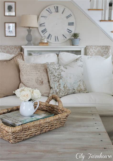 Farmhouse Chic Living Room by Farmhouse Style Decorating Town Country Living