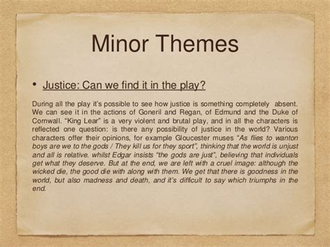 themes in king lear justice king lear