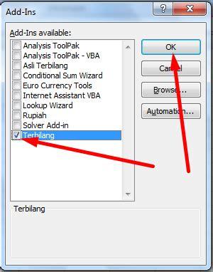 cara membuat form login di excel 2007 cara membuat add in terbilang untuk microsoft excel 2007