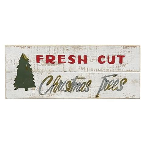quot fresh cut christmas trees quot sign