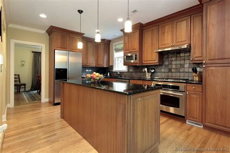 Medium Brown Kitchen Cabinets | pictures of kitchens traditional medium wood cabinets