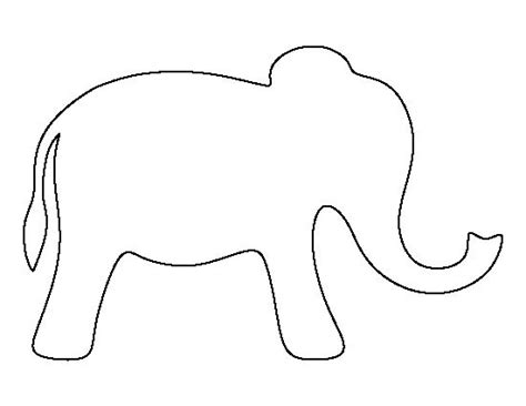 elephant template for preschool simple elephant pattern use the printable outline for