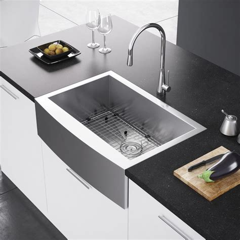 apron front farmhouse sink exclusive heritage 30 x 21 single bowl stainless steel