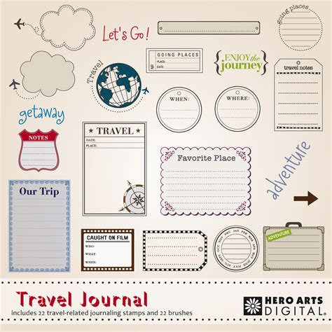 travel journal template printable calendar template 2016