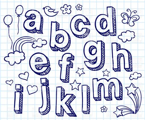 hand drawn pattern font hand drawn font shaded letters and decorations royalty